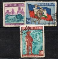 APR2970 - HAITI 1959 , Posta Aerea Serie Yvert N. 173/175  Usata  (2380A) - Haiti
