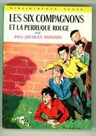 """Bibliothèque Verte N°251 - Série 6C - Paul-Jacques Bonzon - """"Les Six Compagnons Et La Perruque Rouge"""" - 1964 - Bibliotheque Verte"""