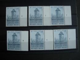 Belgique:2054**: Gosselie: La Tour. Les 6 Numéros De Planche - 1981-1990