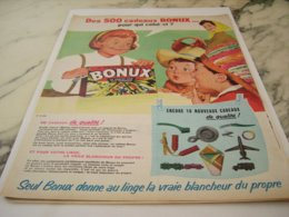 ANCIENNE PUBLICITE SI BLANC ET 500 CADEAUX  BONUX  1961 - Altri