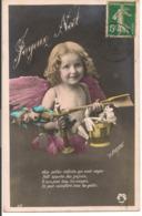 """L80b178 - Joyeux Noël - Angelot  Avec Des Cadeaux """"Aux Petits Enfants...""""   - Pensée N°105 - Christmas"""
