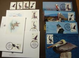 1988 Britische Jungferninseln Br.Virgin Islands WWF Yv. 2729 à 2732 Brauner Pelikan Maxi Card FDC MNH ** #cover 4966 - W.W.F.