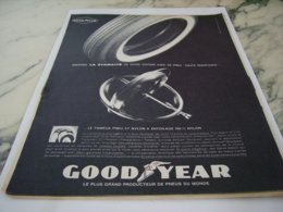 ANCIENNE PUBLICITE PNEU GOODYEAR  1961 - Other