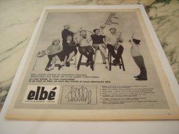 ANCIENNE PUBLICITE BONNETERIE  ELBE 1961 - Unclassified