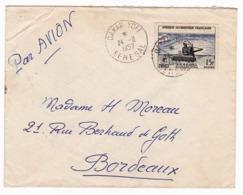 Lettre 1957 Dakar Yoff Sénégal AOF Afrique Occidentale Française - Brieven En Documenten