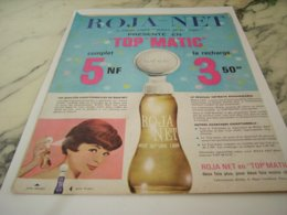 ANCIENNE PUBLICITE TOP MATIC CHEVEUX ROJA NET 1961 - Perfume & Beauty