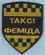 Ukraine / Patch, Abzeichen, Parche, Ecusson / Taxi Femida. KYIV. Velcro. - Ohne Zuordnung