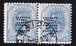 STAMPS-ROMANIA-PERFINS-USED-SEE-SCAN - 1858-1880 Moldavia & Principato