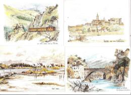 LOT DE 16 CPSM DE ROBERT LEPINE AQUARELLES - Paintings