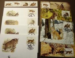 1988 Portugal WWF Pardelluchs Iberian Lynx Michel Nr. 1741-1744 Maxi Card FDC MNH ** #cover 4970 - W.W.F.