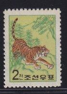 Korea 1962, Tiger, Minr 368, MNH. Cv 4,20 Euro - Corea Del Nord