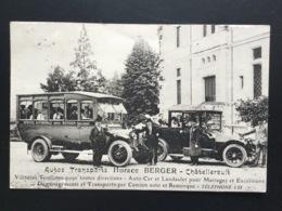 CPA Autos Transports Horace Berger Chatellerault Années 1930 Voitures Chauffeurs Et Passagers - Chatellerault
