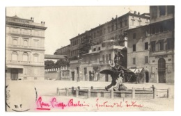 ITALIE - ROMA Piazza Barberini, Fontana Del Tritone, Carte Photo - Autres Monuments, édifices