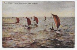 Fleet Of Native Fishing Boats Off The Coast Of Ceylon - Sri Lanka (Ceylon)