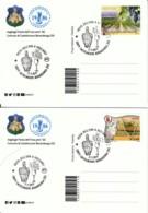 VAGLIAGLI - Annullo Filatelico FESTA DELL'UVA - Due Cartoline Con Confezione Dedicata A Leonardo Da Vinci - Bevande