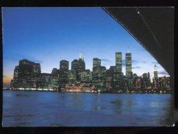 CPM Etats Unis NEW YORK CITY The World Trade Center The Brooklyn Bridge Spans The East River - World Trade Center