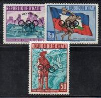 APR2971- HAITI 1960 , Posta Aerea Serie Yvert N. 184/186  ***  MNH  (2380A)  Squaw Valley - Haiti