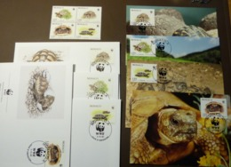 1991 Monaco Mi 2046-2049 WWF  Griechische Landschildkröte Tortoise Maxi Card FDC MNH ** #cover 4975 - W.W.F.