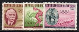 APR2973- HAITI 1960 , Posta Aerea Serie Yvert N. 203/205  ***  MNH  (2380A)  Roma - Haiti