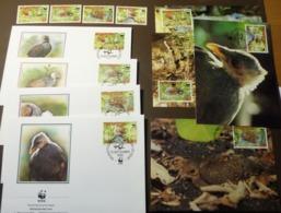 Niuafo'ou 1992 WWF Pritchard-Dschungelhuhn Megapode Set 233/36 Maxi Card FDC MNH ** #cover 4976 - W.W.F.