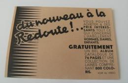 CP Papier Catalogue Filatures De La Redoute Roubaix CIRCA 1930 - Werbung