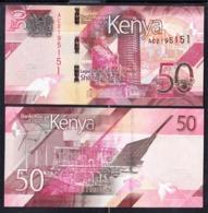 2019 Kenya ***NEW*** 50 Shilling Note Green Energy Wind Farms Solar UNCIRCULATED - Kenia