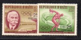 APR2974- HAITI 1960 , Posta Aerea Serie Yvert N. 206/207  ***  MNH  (2380A)  Roma - Haiti
