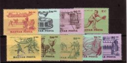 HONGRIE 1965 HISTOIRE DU TENNIS  Yvert: 1734/42  NEUF MNH** - Tennis