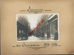 Liège. Photo Inédite Inondations De 1925-1926. Rue à Situer. Photo Format Carte Postale. Camion, Pompiers, Charrette.... - Lieux