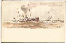 BELGICA ENTERO POSTAL LINEA OSTENDE DOVER PAQUEBOT PRINCESSE JOSEPHINE - Schiffe