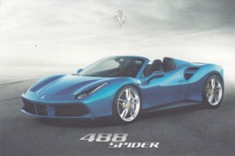 FERRARI 488 SPIDER - SCHEDA TECNICA - TECHNICAL SPECIFICATIONS - Car Racing - F1