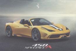 FERRARI 458 SPECIALE A - SCHEDA TECNICA - TECHNICAL SPECIFICATIONS - Car Racing - F1
