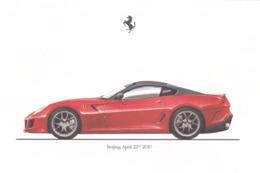 FERRARI 599 GTO - SCHEDA TECNICA - TECHNICAL SPECIFICATIONS - BEIJING APRIL 22 - 2010 - Automobile - F1