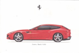 FERRARI FF - SCHEDA TECNICA - TECHNICAL SPECIFICATIONS - GENèVE MARCH 1 - 2011 - Automobile - F1