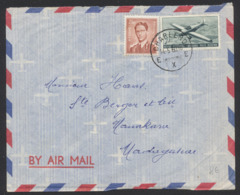 Lunettes - 2F50 + PA29 Sur Lettre Par Avion De Charleroi 14/5/60 Vers Manakara (Madagascar) - 1953-1972 Brillen