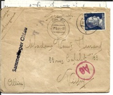 Pologne    LETTRE De OHLAU  Pour VICHY  En 1944 AVEC LE COURRIER . - Briefe U. Dokumente