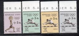 APR2983 - HAITI 1965 , Posta Aerea Serie Yvert N. 301/304  ***  MNH  (2380A)  Tokyo - Haiti