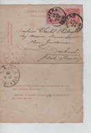 PR7350/ Entier CL 10c FB + TP Perforé D.L.L. C.Anvers 1889 > Gd Duché Diekirch C.d'arrivée - Letter-Cards