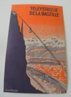 Carte Cartonnée Téléférique De La Bastille R.Hamaide Grésivaudan Alpes - Dépliants Touristiques