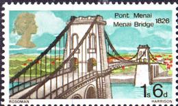 Großbritannien Great Britain Grande-Bretagne - Menai-Brücke (MiNr: 483) 1968 - Postfrisch MNH - 1952-.... (Elizabeth II)