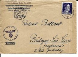 LETTRE De  BERLIN   Pour  BOULOGNE   SUR SEINE   En 1943 - Duitsland