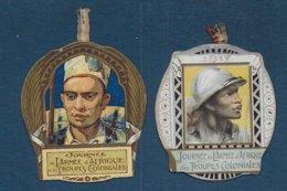 2 Médaillettes En Carton - Journée Armée D'Afrique Et Troupes Coloniales - France
