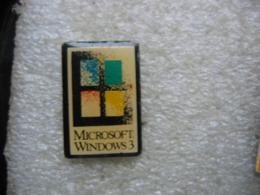 Pin's Microsoft Windows 3 - Informatique