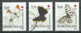 Finlande YT N°957/959 Croix-Rouge Papillons Oblitéré ° - Finnland