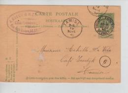 PR7351/ Entier CP 5c Armoiries En Repiquage Cabuy & Steyaert Perforé C&S C.BXL Nord Départ 1910 > Tamise C.d'arrivée - Stamped Stationery