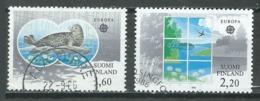 Finlande YT N°949/950 Europa 1986 Protection De La Nature Oblitéré ° - 1986
