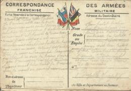 CORRESPONDANCE DES ARMEES , Franchise Militaire , Carte Du Front N°3 AISNE & CHAMPAGNE , 2 Avril 1916 - Guerra 1914-18