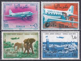 Somalia 1964 Transport Luftfahrt Aviation Flugzeuge Aeroplanes Planes Elefanten Elephants Städte Towns, Mi. 64-7 ** - Somalia (1960-...)