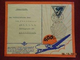 Lettre En Poste Aerienne De Batavia à Destination D'Amsterdam De 1937 - Nederlands-Indië