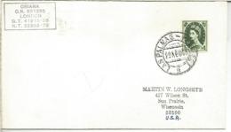 CANARIAS CC A USA CON FRANQUEO BRITANICO Y MAT LAS PALMAS PAQUEBOT BUQUE ORIANA - 1931-Hoy: 2ª República - ... Juan Carlos I